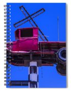 Old Truck With Cross Spiral Notebook