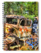Old Trucks And Old Bicycles Spiral Notebook