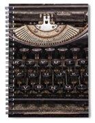Old Typewriter Spiral Notebook
