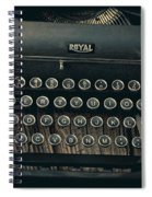 Old Typewriter With Letter Spiral Notebook