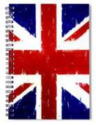 Old United Kingdom Flag Original Acrylic Palette Knife Painting Spiral Notebook