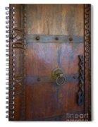 Old Vintage Door With Chain  Spiral Notebook
