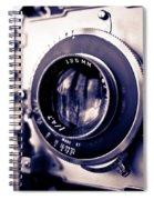 Old Vintage Press Camera  Spiral Notebook