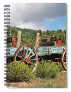 Old Wagon Along The Road Spiral Notebook