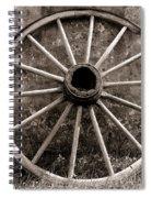 Old Wagon Wheel Spiral Notebook