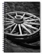 Old Wagon Wheels Spiral Notebook
