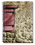 Old Wall And Door Spiral Notebook