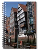 Old Warehouses Port Of Hamburg  Spiral Notebook