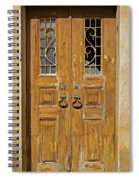 Old Weathered Brown Wood Door Of Portugal Spiral Notebook