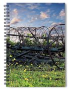 Old Weathered Plow Spiral Notebook