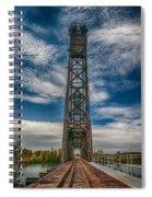 Old Welland Lift Bridge 3d07057hp Spiral Notebook