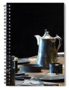Old West Table Setting Spiral Notebook