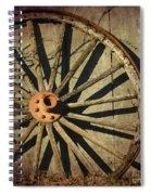 Old West Wagon Wheel Spiral Notebook