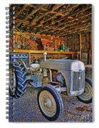 Old White Ford Tractor Spiral Notebook
