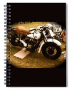 Old White Motorcycle Spiral Notebook
