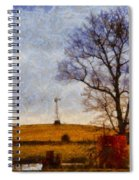 Old Windmill On The Farm Spiral Notebook