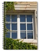 Old Window With Creeper. Spiral Notebook