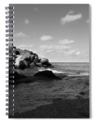 Old Woman Creek - Black And White 3 Spiral Notebook
