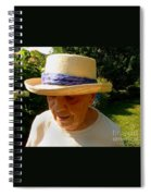 Old Woman Wearing Straw Hat Spiral Notebook