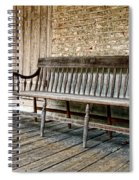 Old Wood Bench Spiral Notebook