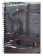 Old Wood  Mining Ore Car Spiral Notebook