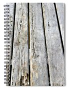 Old Wood Texture Spiral Notebook