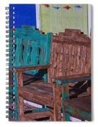 Old Wooden Benches Spiral Notebook