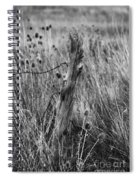 Old Wooden Fence Post In A Field Spiral Notebook