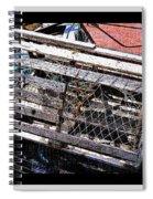 Old Wooden Lobster Pot Spiral Notebook
