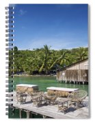 Old Wooden Pier Of Koh Rong Island In Cambodia Spiral Notebook