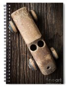 Old Wooden Vintage Toy Car Spiral Notebook