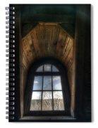 Old Wooden Window Spiral Notebook