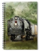 Old World Steam Engine Spiral Notebook