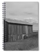 Olde Homestead - Olde Barn - Black And White Spiral Notebook