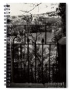 Olde Victorian Gate Leading To A Secret Garden - Peak District - England Spiral Notebook