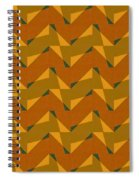 Olive Green And Orange Chevron Collage Spiral Notebook