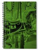 Olive Green Horse Spiral Notebook