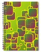 Olive Green Squares Spiral Notebook