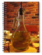 Olive Oil On Table Spiral Notebook