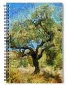 Olive Tree On Van Gogh Manner Spiral Notebook