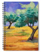 Olive Trees Grove Spiral Notebook