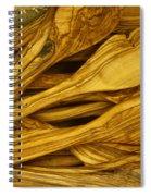 Olive Wood Spiral Notebook