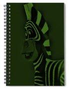 Olive Zebra Spiral Notebook