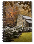 Oliver's Log Cabin During Fall In The Great Smoky Mountains Spiral Notebook