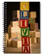 Olivia - Alphabet Blocks Spiral Notebook