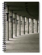 Olympiastadion Berlin Corridor Spiral Notebook