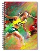 Olympics 100 Metres Hurdles Sally Pearson Spiral Notebook