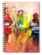 Olympics 10000m Run 01 Spiral Notebook