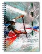 Olympics Canoe Slalom 02 Spiral Notebook