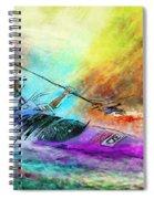 Olympics Canoe Slalom 03 Spiral Notebook